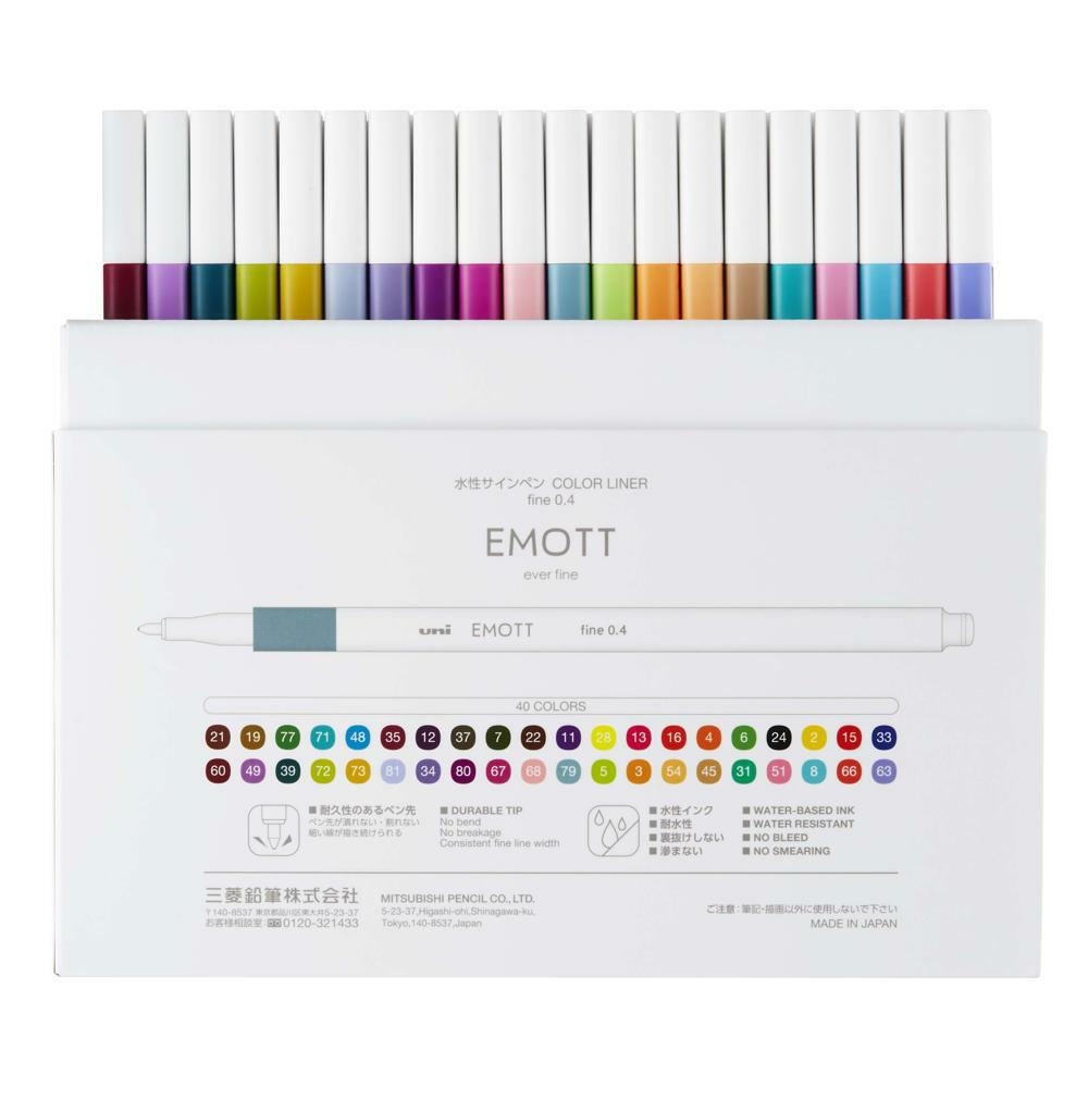 EMOTT fine liner sada 40ks mix barev